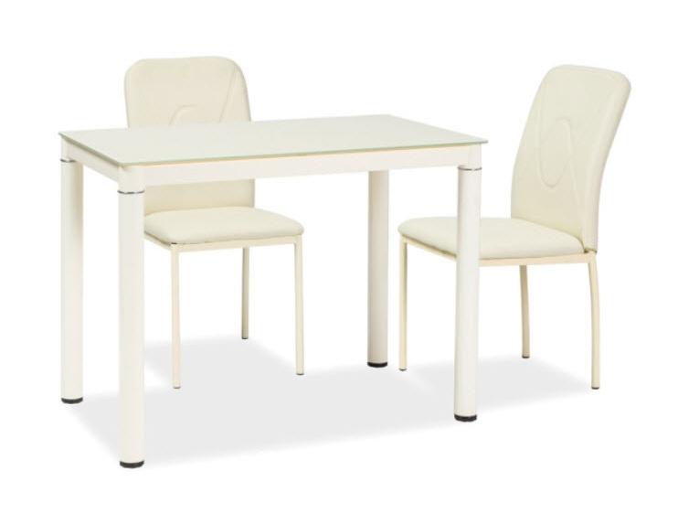 Jedálenský stôl GALANT krémový 60x100