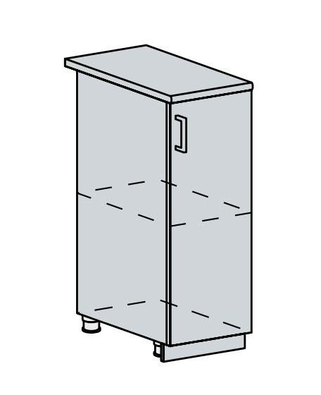 30D d. skříňka 1-dveřová VICTORIE bílý santál