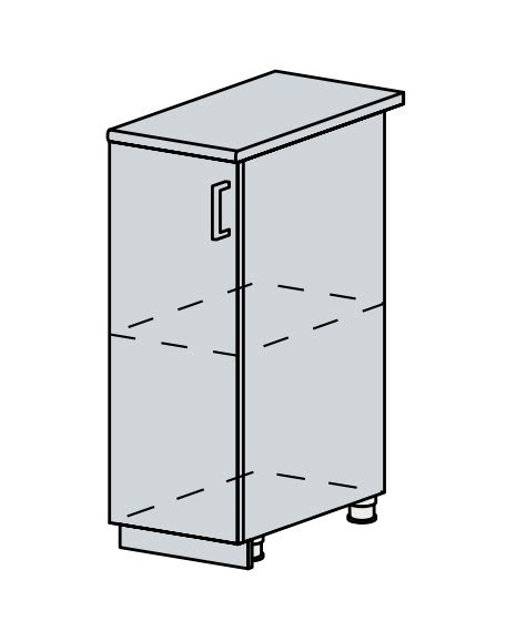 30D d. skříňka 1-dveřová VERONA jasan šimo