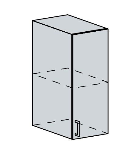 30H h. skříňka 1-dveřová VALERIA wk/bílá lesk