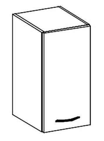 W30 horní skříňka jednodveřová GREY pravá