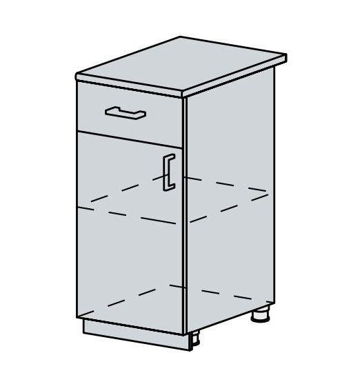 40D1S d. skříňka 1-dveřová se zásuvkou VERONA jasan šimo