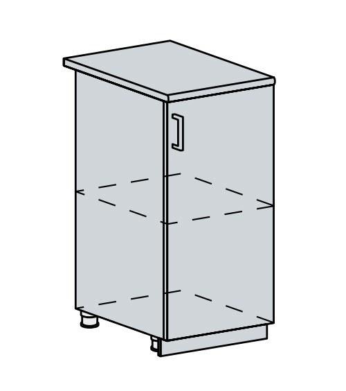 40D d. skříňka 1-dveřová PROVENCE bílá