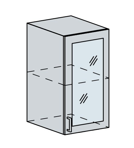 40HS h. vitrína 1-dveřová ANASTASIA bříza