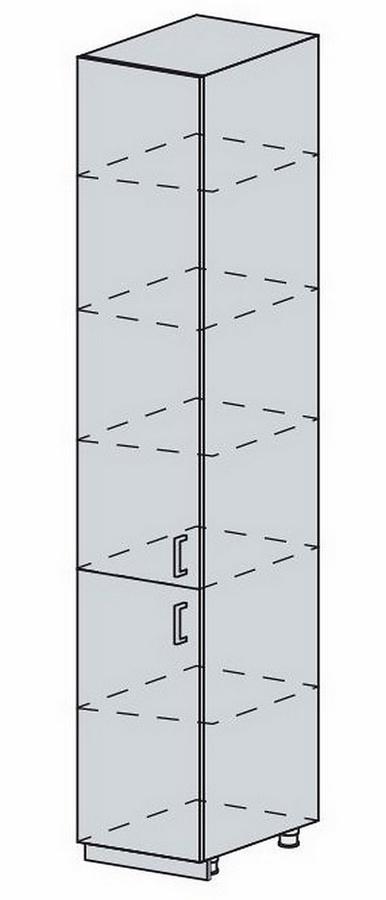 40PV potr. skříň 2-dveřová VERONA zlatý jasan