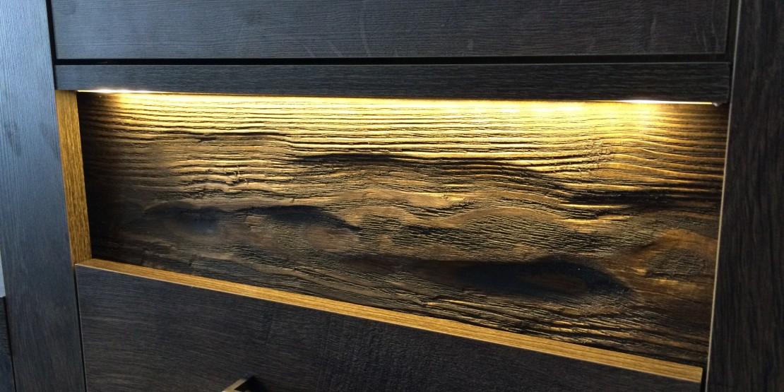 Vitrína lavá INDIANAPOLIS I-4 jasan tmavý