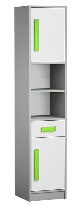skrinka GYT 4 antracit/biela/zelená