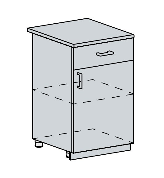 50D1S d. skříňka 1-dveřová se zásuvkou VALERIA wk/wenge