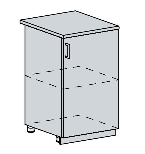 50D d. skříňka 1-dveřová VALERIA wk/bílá lesk