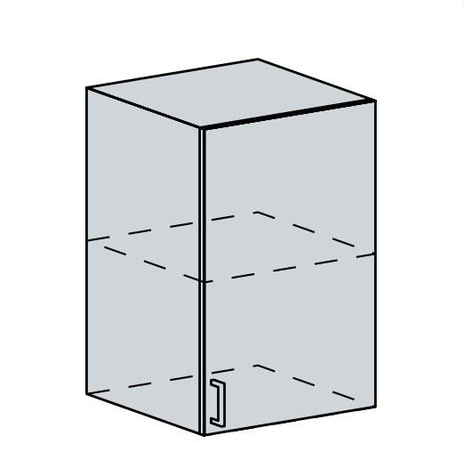 50H h. skříňka 1-dveřová VICTORIE bílý santál