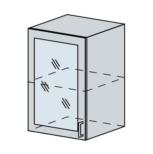 50HS h. vitrína 1-dveřová VERONA jasan šimo