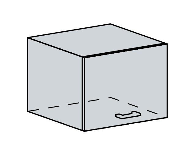 50VP h. skříňka výklopná VALERIA wk/bílá lesk