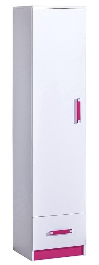 Policová skriňa TRAFICO 5 biela/ružová