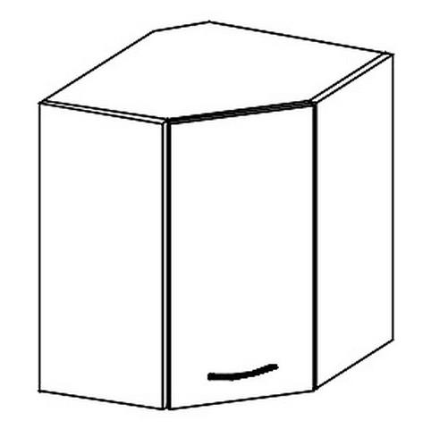 WRP horní rohová skříňka GREY levá