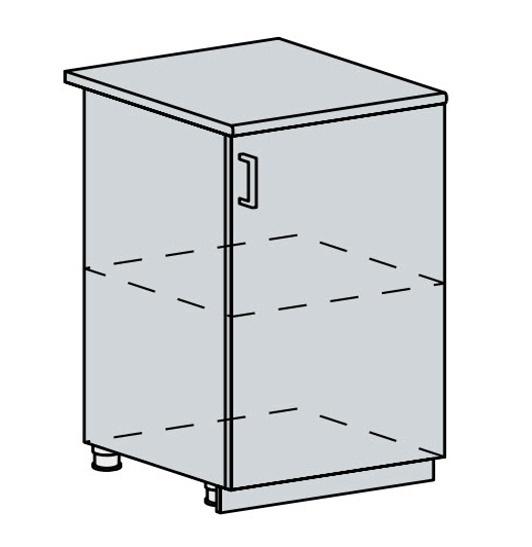 60D1D d. skříňka 1-dveřová VICTORIE bílý santál
