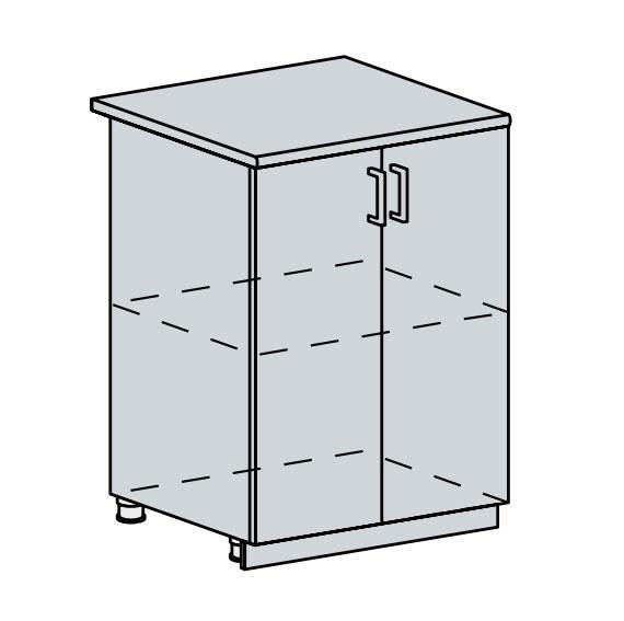 60D d. skříňka 2-dveřová VALERIA wk/bílá lesk