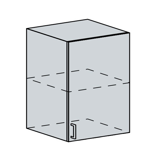 60H1D h. skříňka 1-dveřová PROVENCE šedá