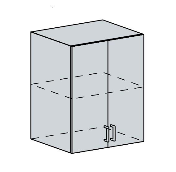 60H h. skříňka 2-dveřová VALERIA wk/bílá lesk