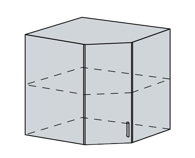 60HR h. skříňka rohová VERONA jasan šimo