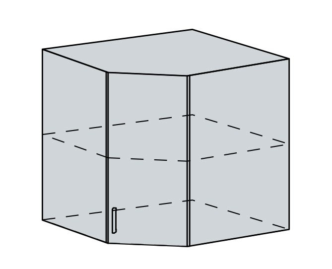 60HR h. skříňka rohová VALERIA wk/bílá lesk