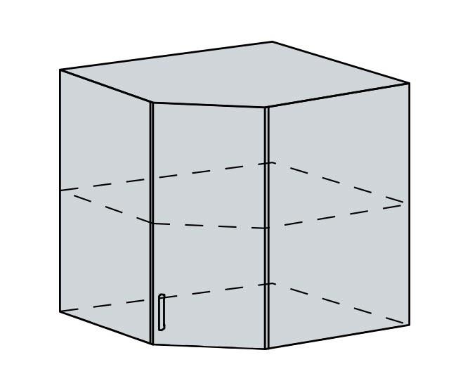 60HR h. skříňka rohová VALERIA wk/wenge