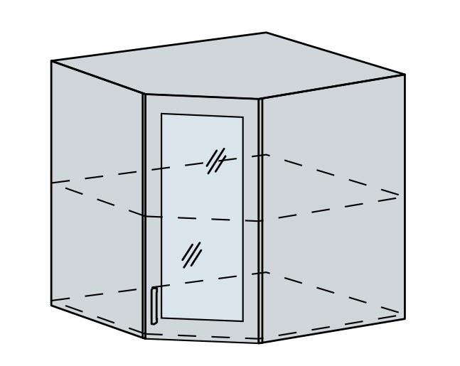 60HRS h. vitrína rohová VICTORIE bílý santál