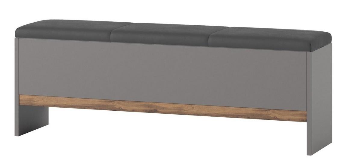 Lavice LIVORNO 65 dub wotan/šedá