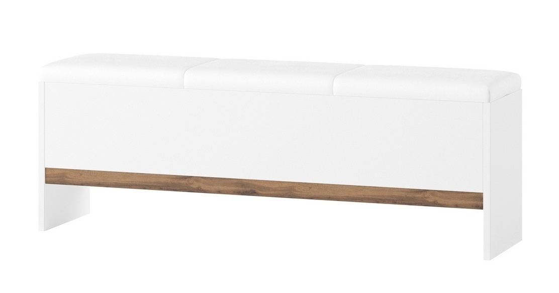 Lavice LIVORNO 65 dub wotan/bílá