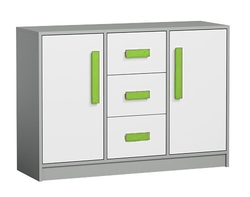 Komoda GYT 6 antracit/biela/zelená