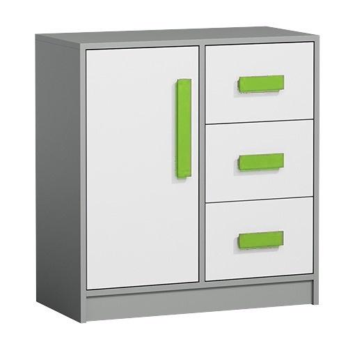 Komoda GYT 7 antracit/biela/zelená