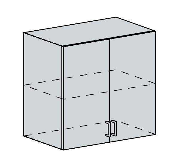 80H h. skříňka 2-dveřová PROVENCE šedá