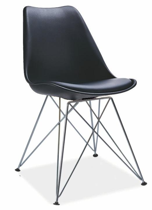 jedálenská stolička TIME černá