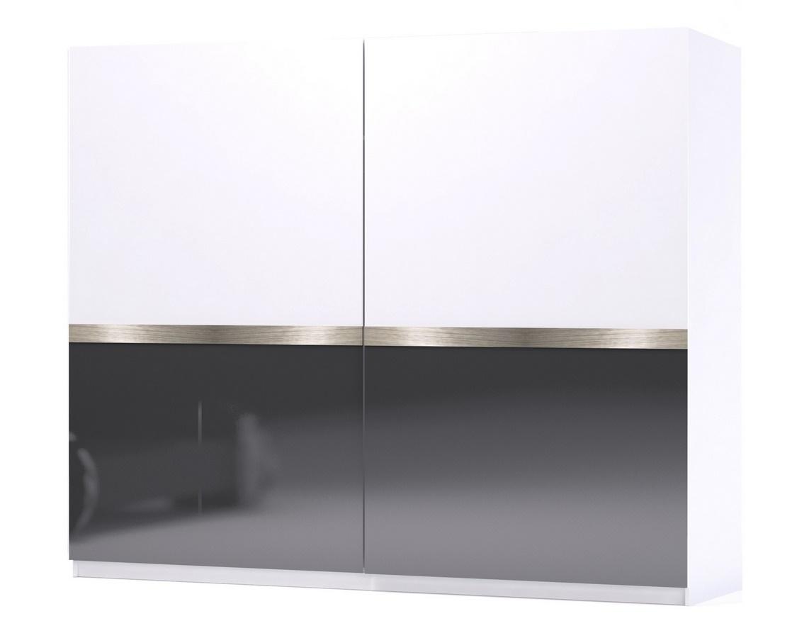 Posuvné dveře GLOSSY 02 bílá/grafit lesk