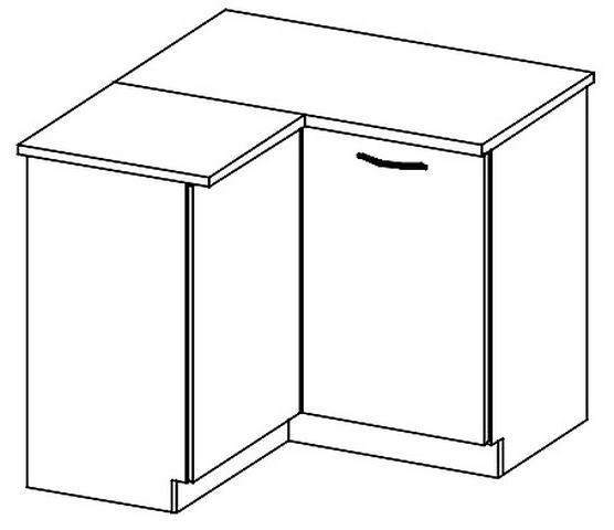 DRP dolní rohová skříňka SONOMA levá