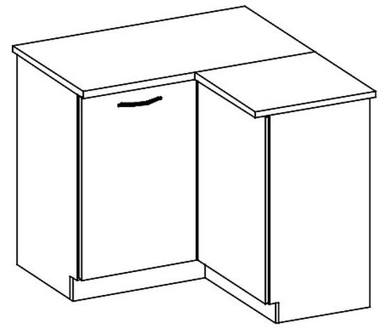 DRP dolní rohová skříňka SONOMA pravá