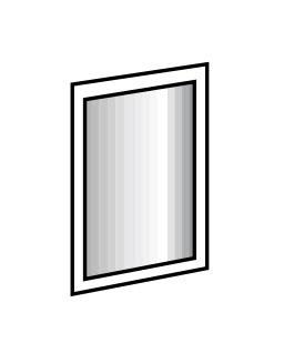 zrkadlo ILONA 919 biela