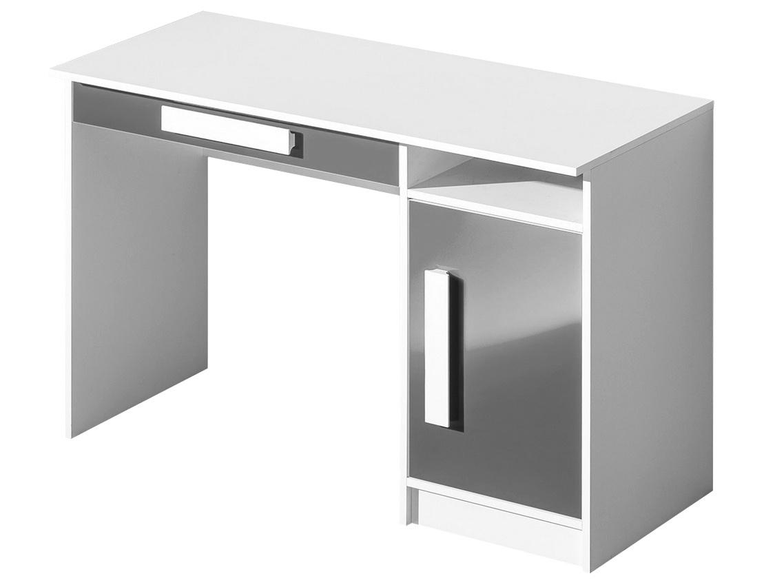 pracovný stôl GULLIWER 9 biela/šedá lesk