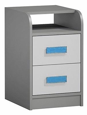 Kontajner k prac. stolu GYT 9 antracit/biela/modrá