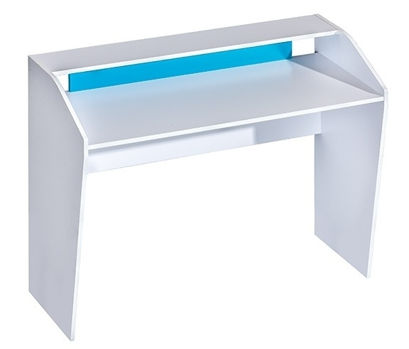 pracovný stôl TRAFICO 9 biela/tyrkys