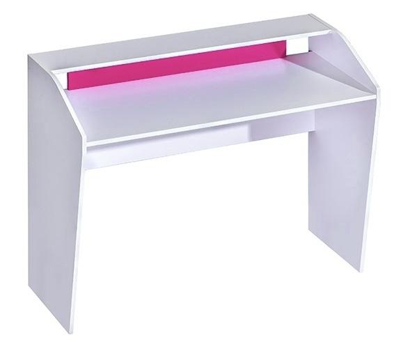 pracovný stôl TRAFICO 9 biela/ružová