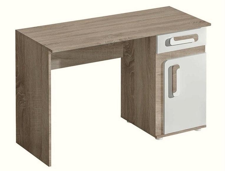 pracovný stôl APETTITA 9 dub jasný/biela