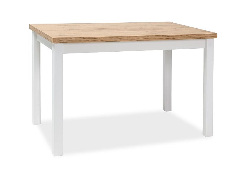 Jedálenský stôl ADAM 100x60 dub lancelot/biela mat