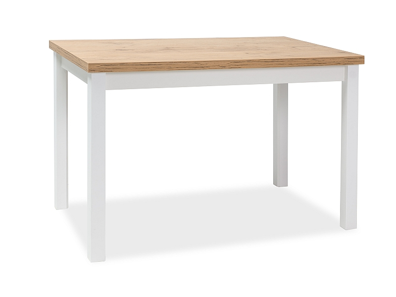 Jedálenský stôl ADAM 120x68 dub lancelot/biela mat