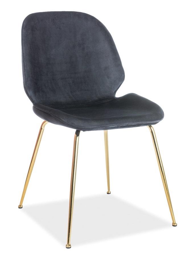 Jedálenská čalúnená stolička ADRIEN VELVET čierna
