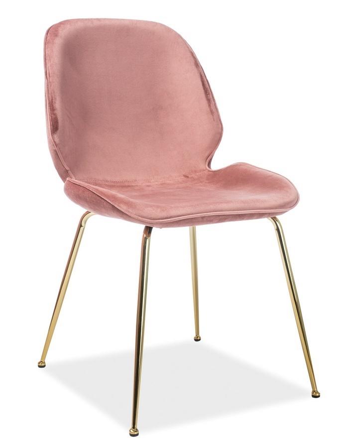 Jedálenská čalúnená stolička ADRIEN VELVET staroružová