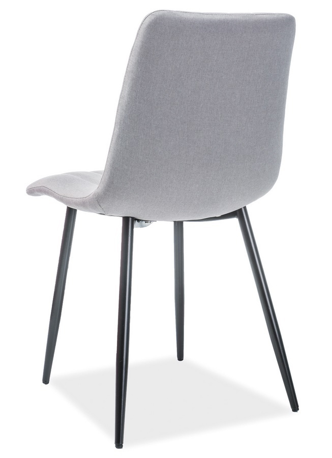 Jedálenská čalúnená stolička ALAN šedá/čierna