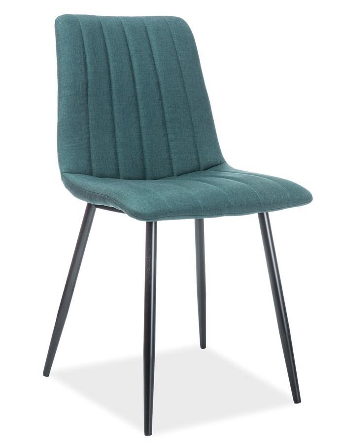 Jedálenská čalúnená stolička ALAN zelená/čierna