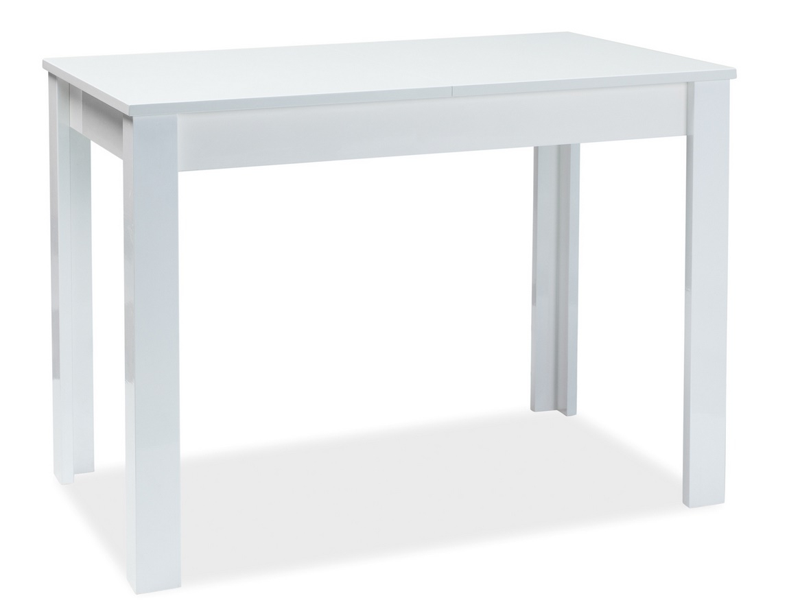 Jedálenský stôl rozkladací ALBERT 100x60 biely lak