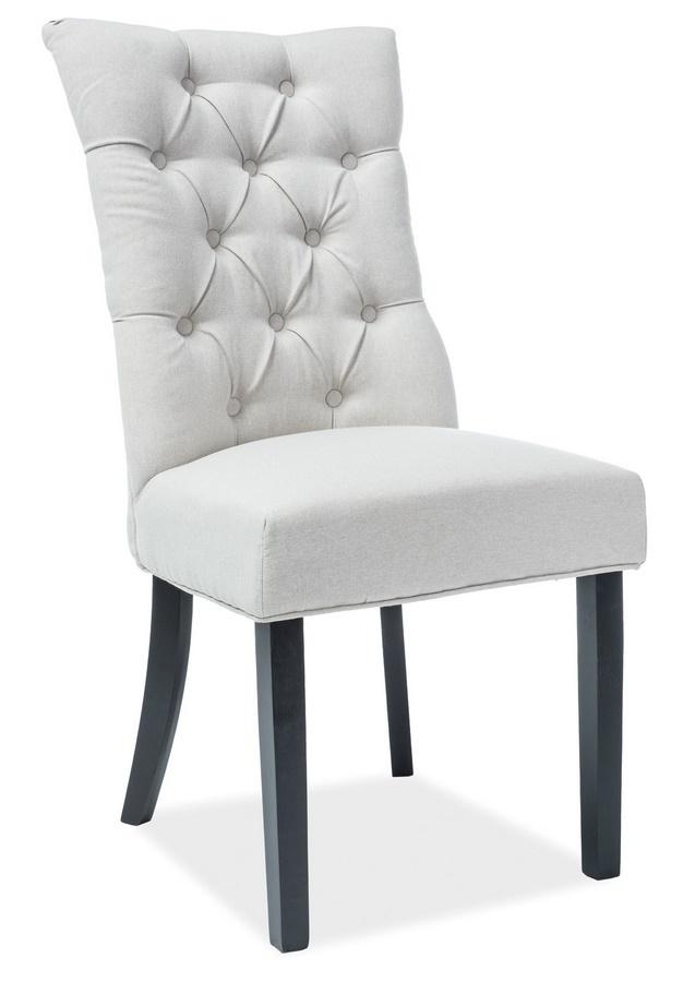 Jedálenská čalúnená stolička ALEKSANDER krémová/čierna