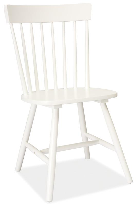 Jedálenská drevená stolička ALERO biela